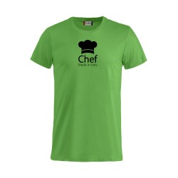 T-Shirt Chef Made in Italy Verde