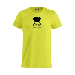 T-Shirt Chef Made in Italy Fluo