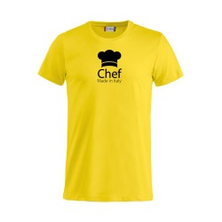 T-Shirt Chef Made in Italy Gialla