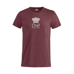 T-Shirt Chef Made in Italy Bordeaux