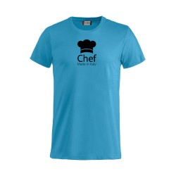 T-Shirt Chef Made in Italy Turchese