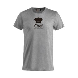 T-Shirt Chef Made in Italy Grigia
