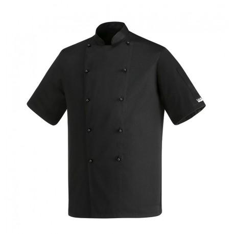 Giacca Cuoco Safety Maniche Corte Nera