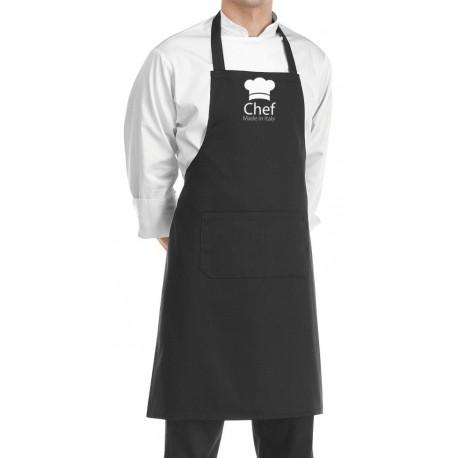 Grembiule Cuoco Chef Made in Italy Nero
