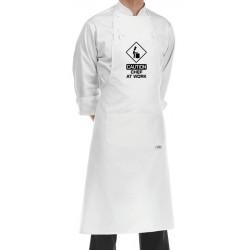 Grembiule Cuoco Chef At Work Bianco