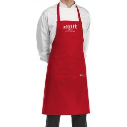 Grembiule Cuoco Chef Evolution Rosso