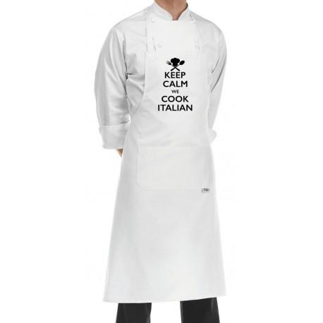 Grembiule Cuoco Keep Calm Bianco