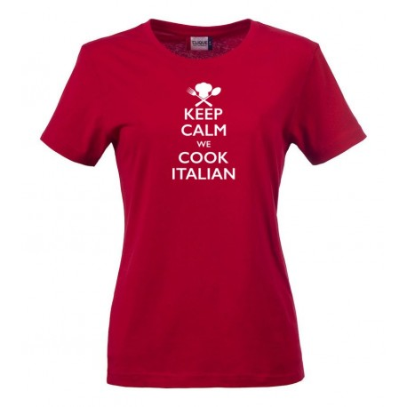 T-Shirt Donna Keep Calm Rossa