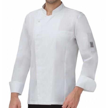 Giacca Cuoco Romolo Tencel Bianca