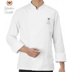 Giacca Cuoco Mirko Bianco Corona