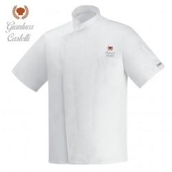 Giacca Cuoco Ottavio Microfibra Nera M/Corte Corona