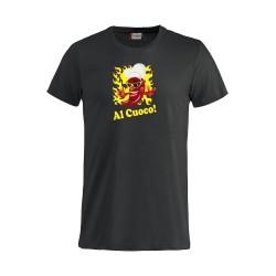 T-Shirt Manica Corta Al Cuoco! Nera
