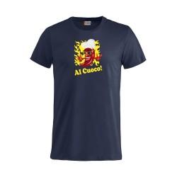 T-Shirt Manica Corta Al Cuoco! Blu