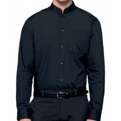 Camicia Uomo Coreana Nera