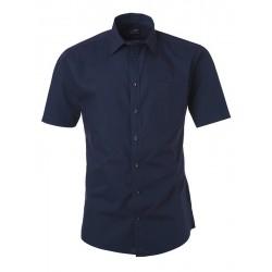 Camicia Uomo Policotone Manica Corta Blu