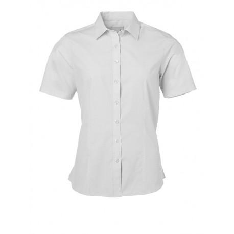 Camicia Uomo Policotone Manica Corta Bianca
