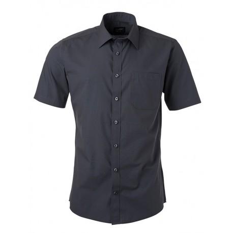 Camicia Uomo Policotone Manica Corta Zinc