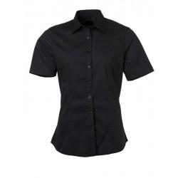 Camicia Donna Policotone Manica Corta Nera