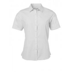Camicia Donna Policotone Manica Corta Bianca