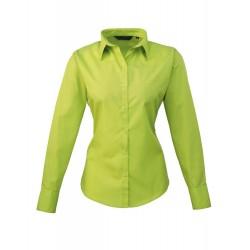 Camicia Donna Policotone Manica Lunga Lime