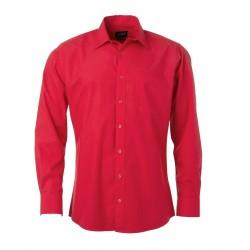 Camicia Uomo Policotone Manica Lunga Rossa
