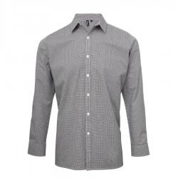 Camicia Donna Gingham Quadretti Bianco/Nero