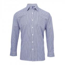 Camicia Donna Gingham Quadretti Blu/Bianco