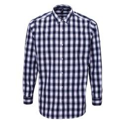 Camicia Uomo Mulligan Quadri Bianco/Blu
