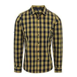 Camicia Uomo Mulligan Quadri Giallo/Blu