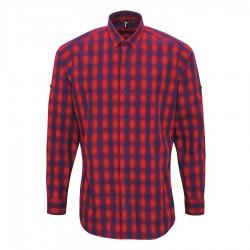 Camicia Uomo Mulligan Quadri Rosso/Blu