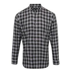 Camicia Uomo Mulligan Quadri Grigio/Nero
