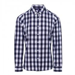 Camicia Donna Mulligan Quadri Bianco/Blu