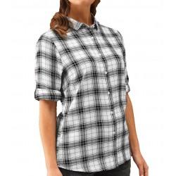 Camicia Donna Ginmill Quadri Bianco/Nero