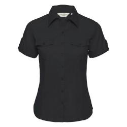 Camicia Donna Roll Manica Corta Nera
