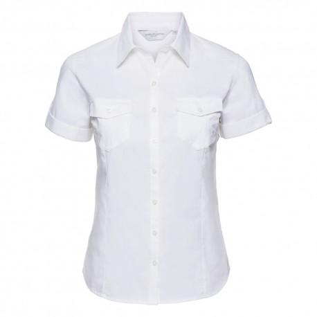 brand new aa356 e8582 Camicia Donna Roll Manica Corta Bianca