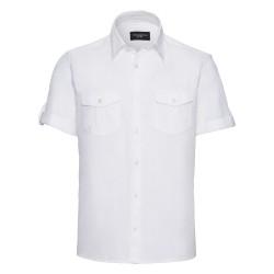 Camicia Uomo Roll Manica Corta Bianca