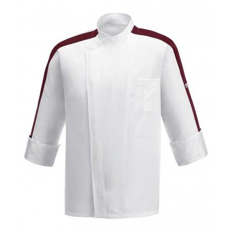 Giacca Cuoco Bordeaux Ribbon Microfibra