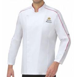 Giacca Cuoco LuxSatin Christmas Chef Bianca