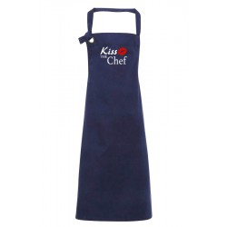Grembiule Canvas Navy Kiss The Chef