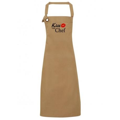 Grembiule Canvas Khaki Kiss The Chef
