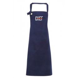 Grembiule Canvas Navy Chef Cut