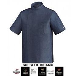 Giacca Cuoco Ottavio Manica Corta Jeans Signature