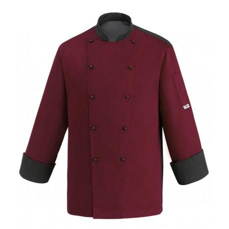 Giacca Cuoco Color Bordeaux