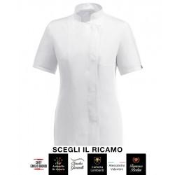 Giacca Cuoco Donna Microfibra M/Corte Bianca Signature