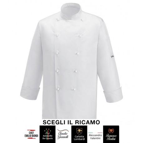 Giacca Cuoco Ice Microfibra Bianca Signature