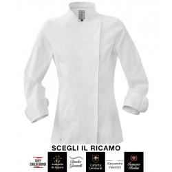 Giacca Cuoco Donna Colette Stretch Bianca Signature