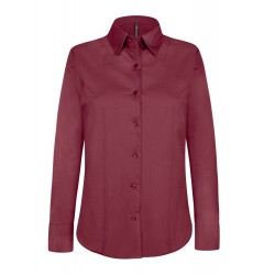 Camicia Donna Stretch Bordeaux