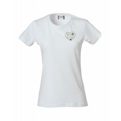 T-Shirt Donna Bianca Cuore di Chef