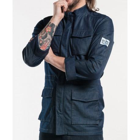 reputable site 495f1 c7d19 Giacca Cuoco Parka Jeans Stretch Blu