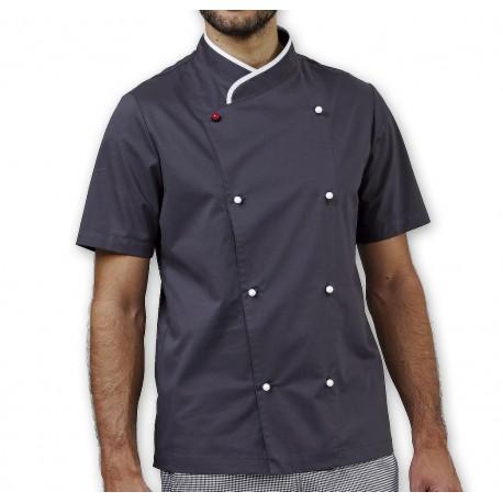 Giacca Cuoco Davin Stretch M/Corte Grigia